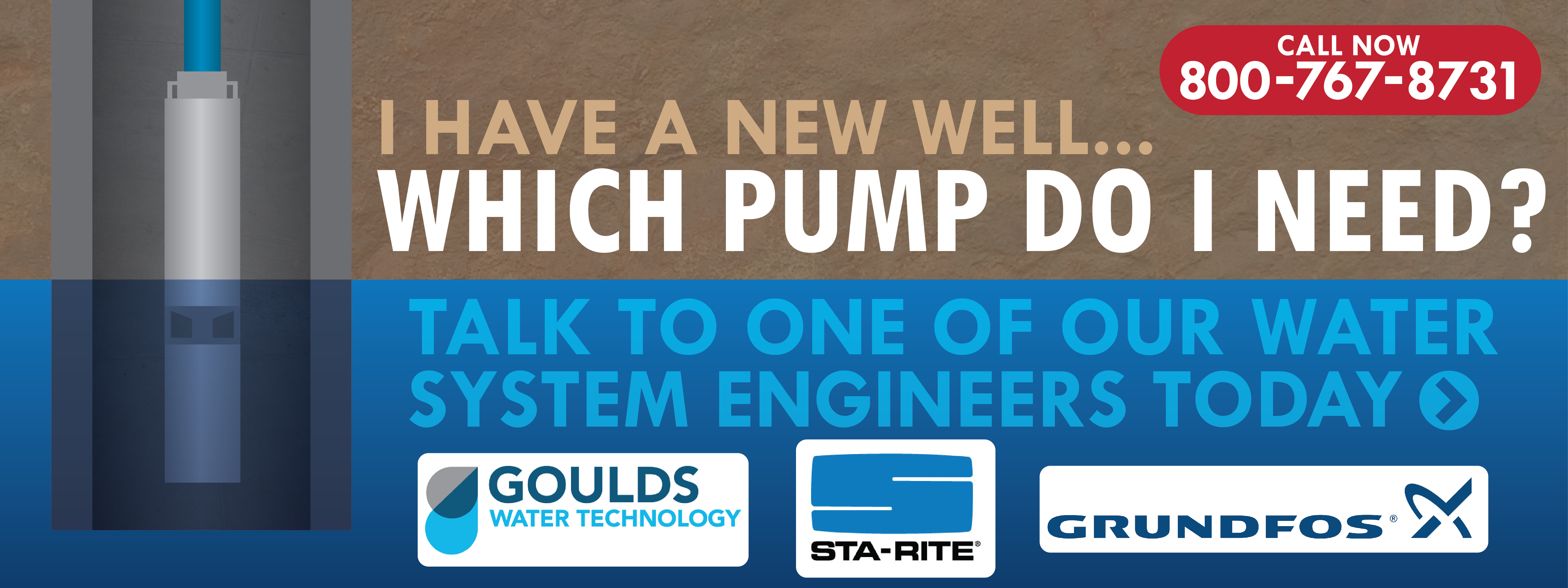 Call us for help choosing a submersible pump for your well