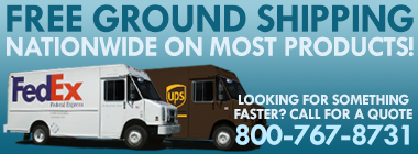 Free Ground Shipping on Most Products