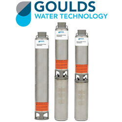 """Goulds Submersible 4"""" Well Pumps - GS Stainless Steel Series"""