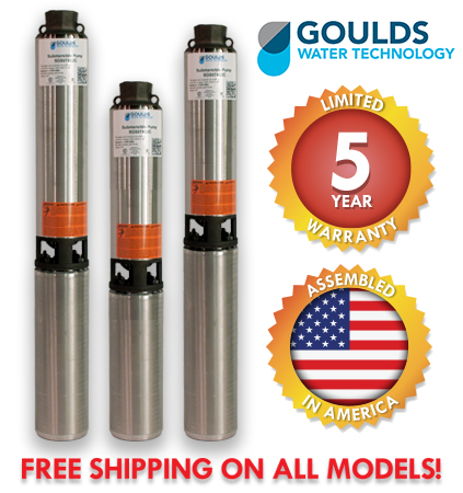 Goulds Submersible Well Pumps - HS Composite Series