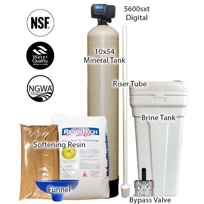 48 000 Grain Capacity Water Softener With 10 X 54 Tank Fleck
