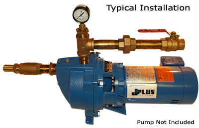 Single Nose Shallow Well Jet Pump Installation Package For 1